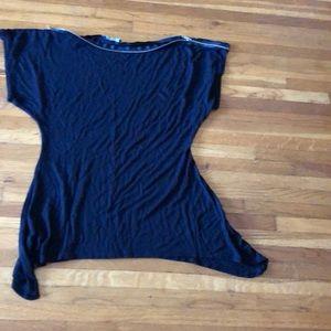 Black short sleeve tunic